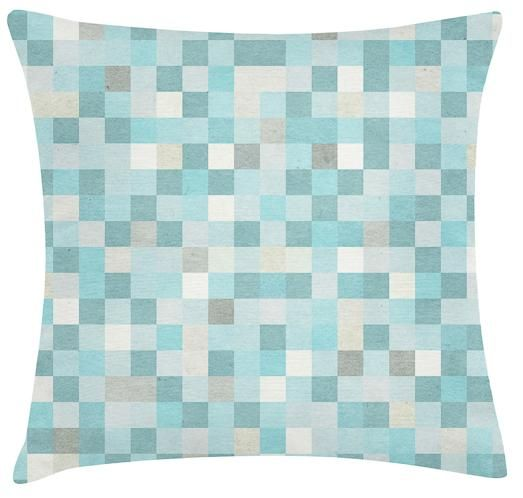 Digital Blue Cushion. 100% Organic Cotton and comes with a plush filler. Only $45 with Free Shipping! http://www.stoolsandchairs.com.au/digital-blue-cushion/