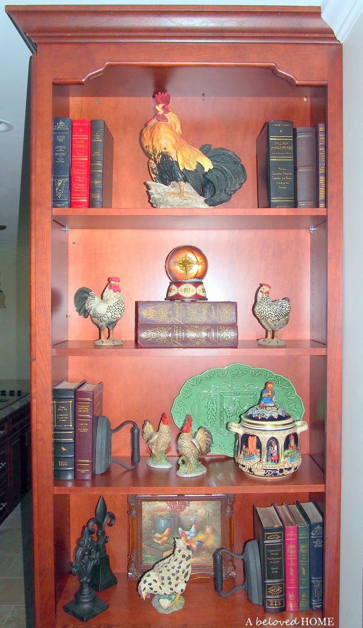 A Beloved Home: kitchen bookshelf