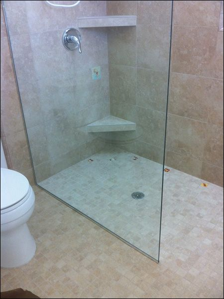 1000 ideas about shower no doors on pinterest walk in for Showers without glass