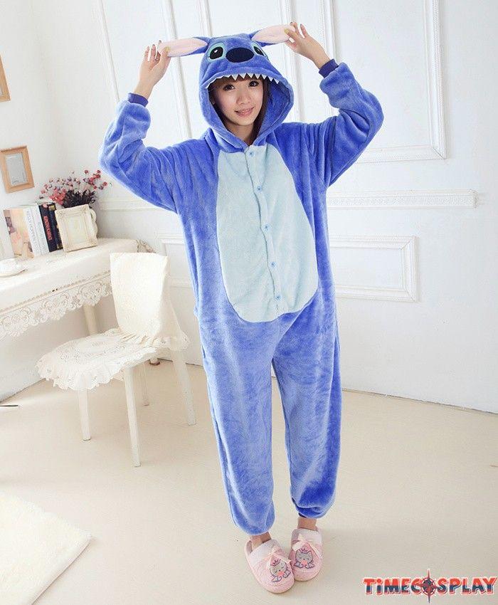 99c91cf8679 Stitch Onesies Pajamas Unisex Flannel Kigurumi Onesies Winter Animal ...