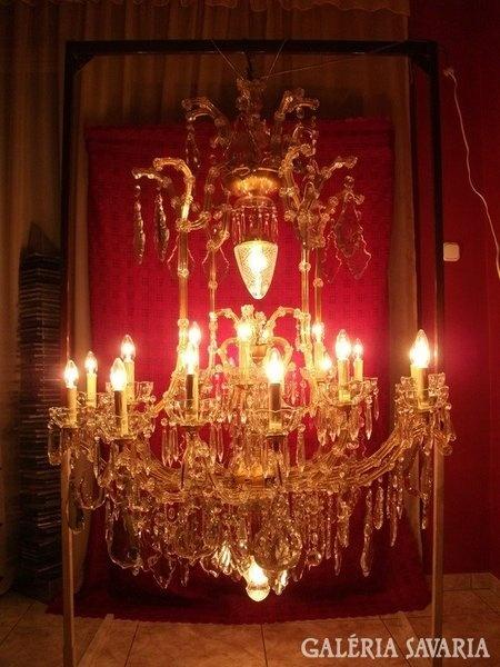 Enormous Crystal Chanderlier from 1920s / Hatalmas kristály csillár az 1920-as évekből