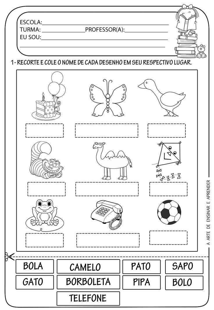 A Arte de Ensinar e Aprender: Atividade pronta - Figura x Nome
