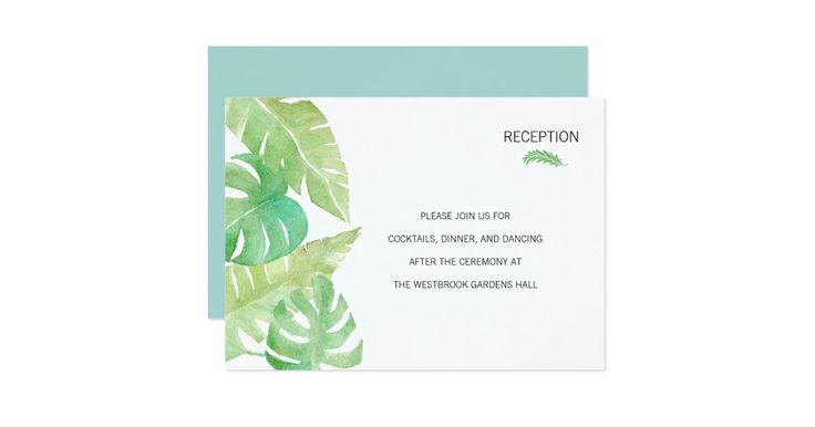 このシックな結婚式招待状セットは軽く水彩画で絵を描かれる熱帯葉によって飾られます。 モダンなタイポグラフィは子猫パイプリントによってこのクラシックなデザインにさわやかなねじれを加えます。