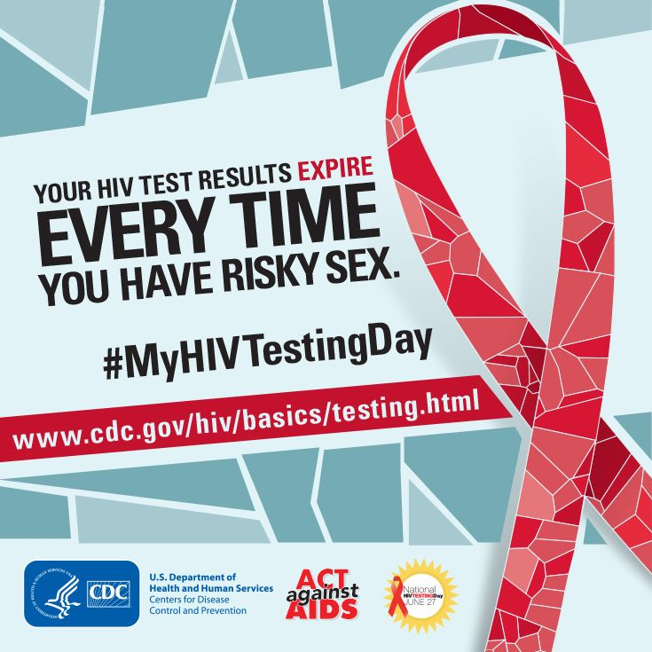 """To find an HIV testing site near you, text your ZIP code to """"KNOW IT"""" (566948) or search online at http://hivtest.cdc.gov. #MyHIVTestingDay"""