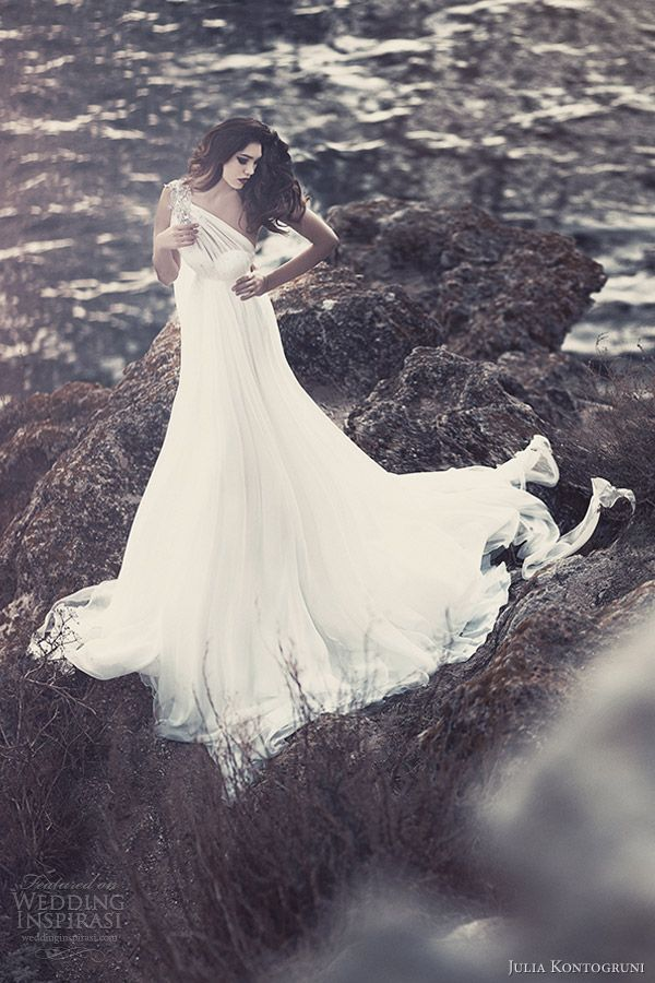 julia kontogruni bridal 2013 one shoulder wedding dresses