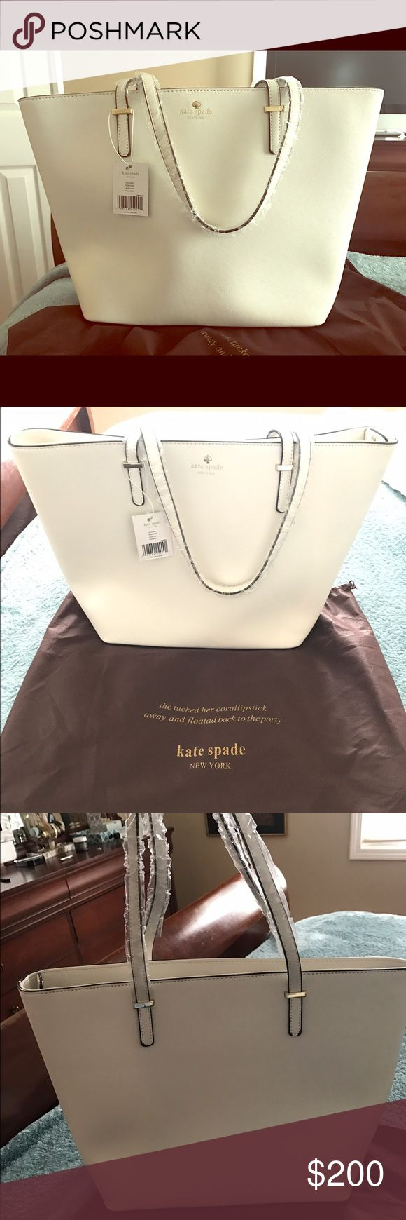 Brand New Kade Spade Maryanne Gold Coast Bag Brand New white Maryanne Gold Coast bag. Never been used. Still has plastic on the handles. In original Kate Spade protective bag. kate spade Bags