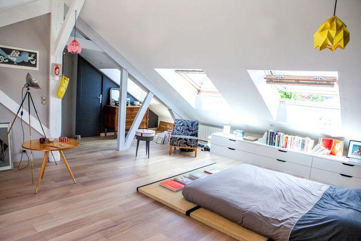 Les 25 meilleures id es concernant chambre coucher d - Chambres mansardees ...