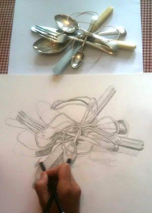 Drawing from observation! http://juliedouglasdrawingpaintinglearning.blogspot.com/ - A great blog by artist and teacher Julie Douglas