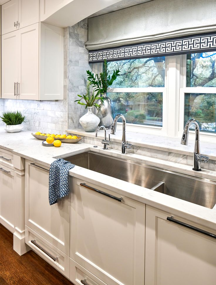 "Large 54"" kitchen sink with two faucets, and instant hot"