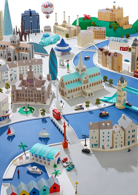 Paper Cities by Hattie Newman, via Behance Utterly amazing