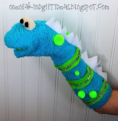 """I See a Monster"" Sock Puppet from One of a Kind, pinned with permission #lostsockday"