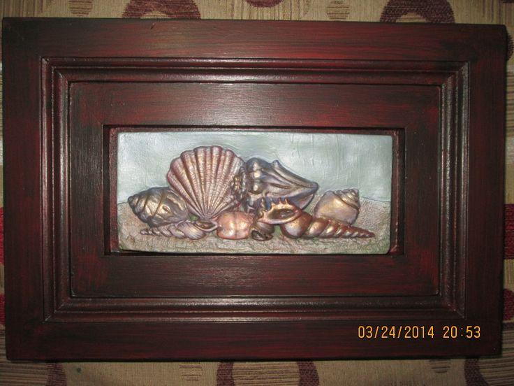Cuadro Caracola marina en ziña