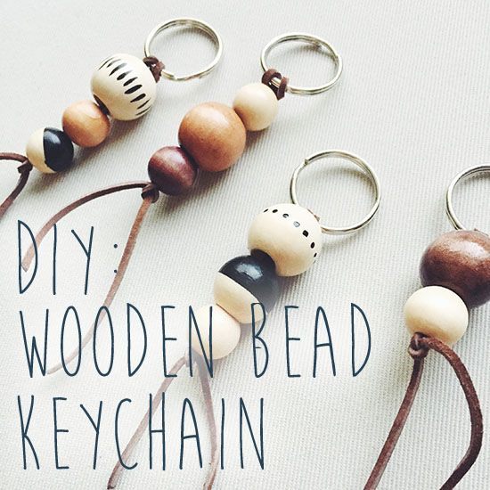 Forks on the Right : DIY: Wooden Bead Keychain