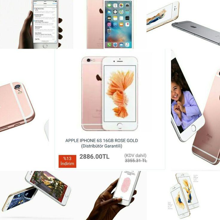 #APPLE #IPHONE #6S 16GB ROSE GOLD (Distribütör Garantili)  KAPIDA Ödeme SEÇENEĞİ  http://www.modahan.net/telefonlar-akilli-telefonlar-cep-telefonlari-power-bank-mobil-sarj-cihazlari-telefon-aksesuarlari-dect-telefonlar-kablolu-telefonlar-telsizler-ekran-koruyucular-kilifar-hafiza-kartlari-sd-mmc-kartlar-micro-sd-iphone-aksesuarlari-çevirici-ve-adap-k-86/apple-iphone-6s-16gb-rose-gold-distributor-garantili-u-119859.html