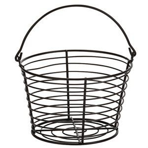 Basket design allows for easy cooling, washing and quick drying of eggs. Made of heavy-duty coated wire to help prevent corrosion and is securely welded at every joint. - Small Egg Basket holds up to