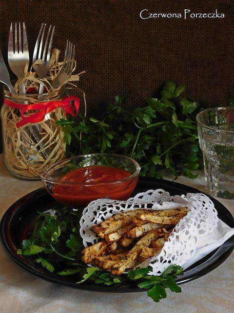 Czerwona Porzeczka: Pieczone frytki z selera