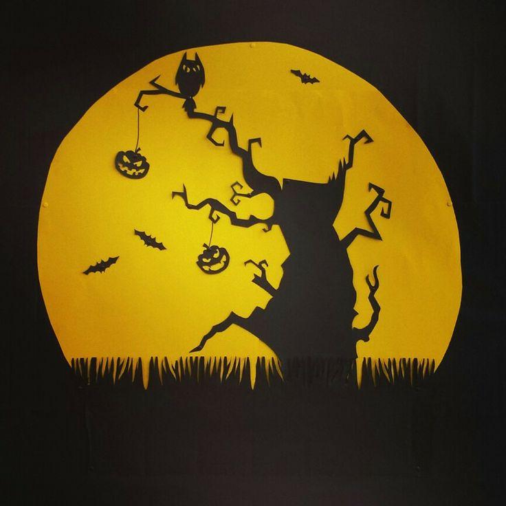 Halloween prikbord knutselen