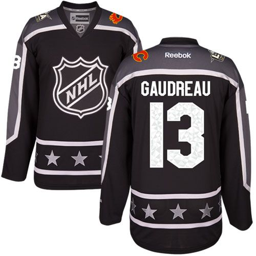 Men's Philadelphia Flyers #13 Johnny Gaudreau Black 2017 All-Star Pacific Division Stitched NHL Jersey