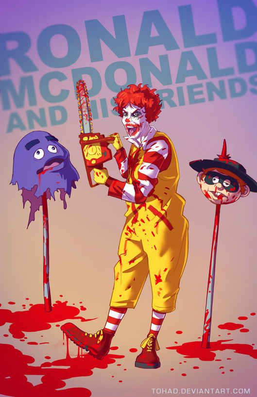 11 Terrifyingly Violent Illustrations Of Classic Childhood Characters