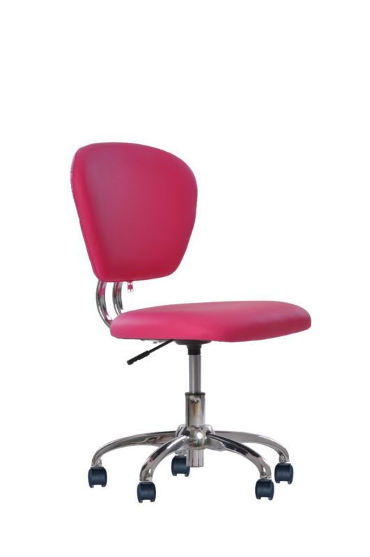 Office Chair PU Leather Mid-Back Task Pneumatic Gas Lift Black White Pink H20 - http://home-garden.goshoppins.com/furniture/office-chair-pu-leather-mid-back-task-pneumatic-gas-lift-black-white-pink-h20/