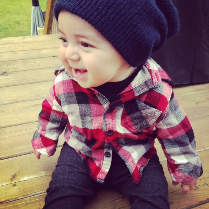 My Skater baby boy- Baby fashion Hipster baby From http://instagram.com/meli_pin