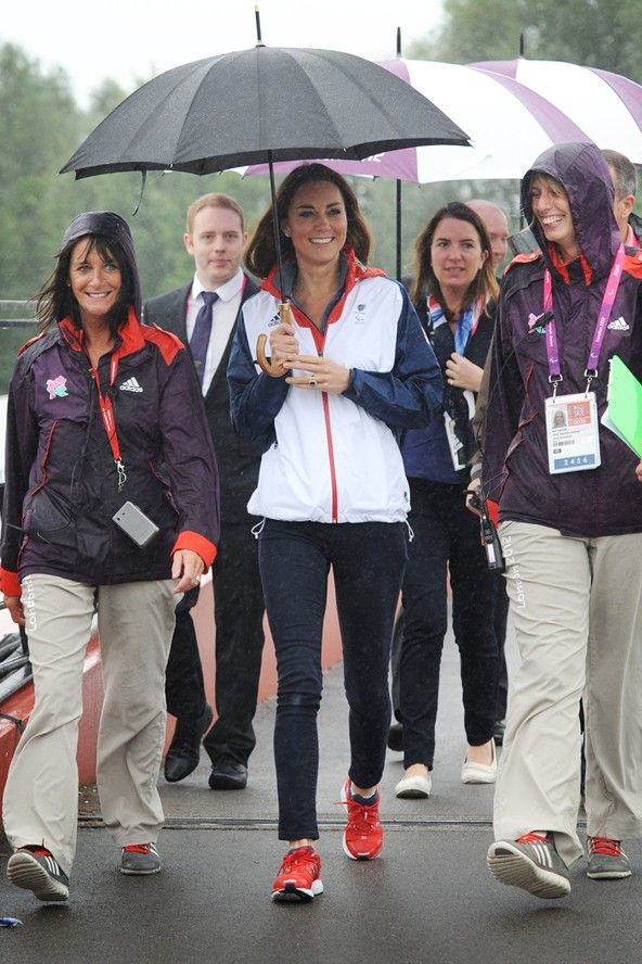 September 2 2012    attended the Paralympics rowing finals, held at Eton Dorney in Berkshire, wearing a Team GB jacket and skinny jeans.