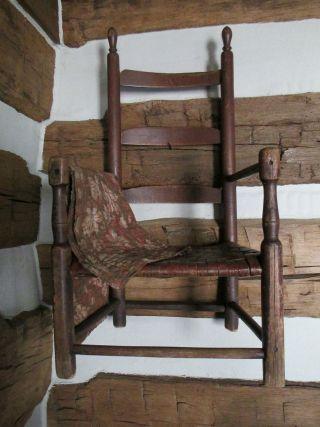 Early Slat Back Childu0027s Chair.