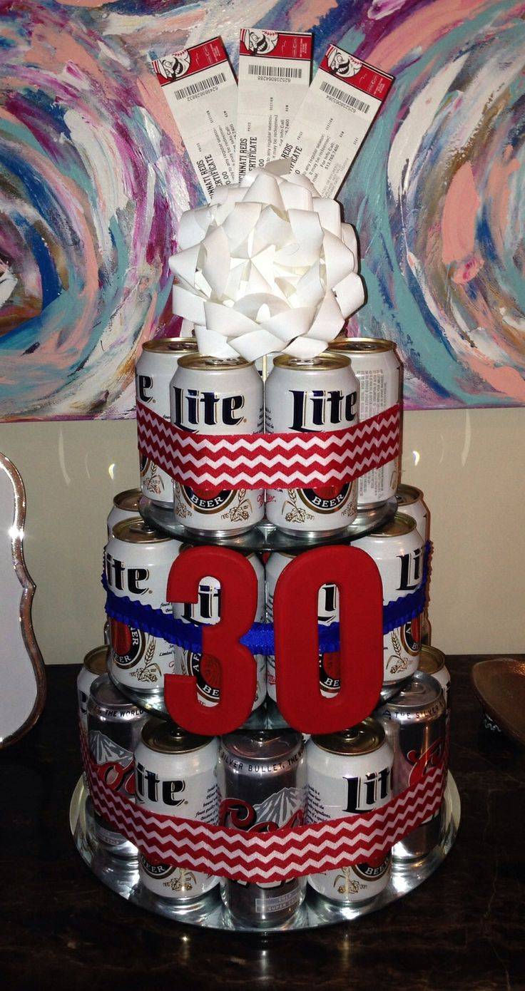 Beer can cake for my brother's 30th birthday