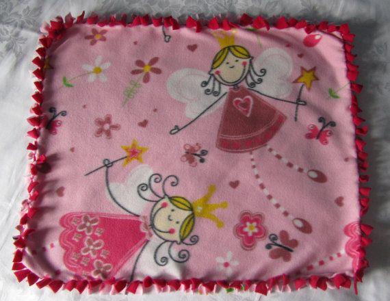 Cute large princess toy fleece tie blanket/pet by BriersBlankets