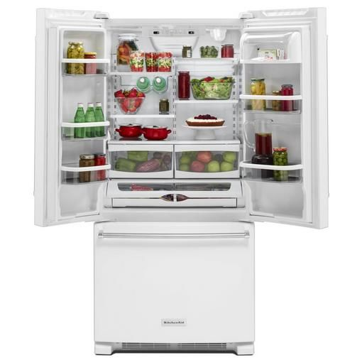 buy kitchenaid 22 cu ft french door with interior dispense krff302ewh online - Kitchenaid Reviews