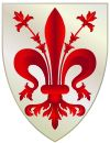 The di Medici coat of arms..... the ruling family of Florence ( most prominent)