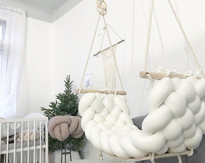 Gorgeous organic linen wedding decor swing | Etsy