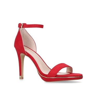 d0c6a36c6c549f KG Kurt Geiger Red  Alexis  stiletto heel sandals