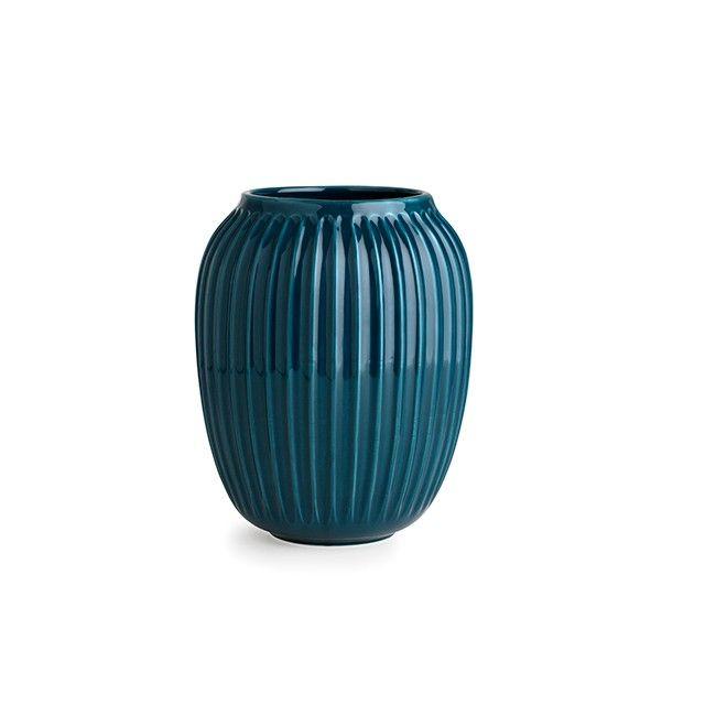 Hammershøi Vase Petroleumsblå Mellem