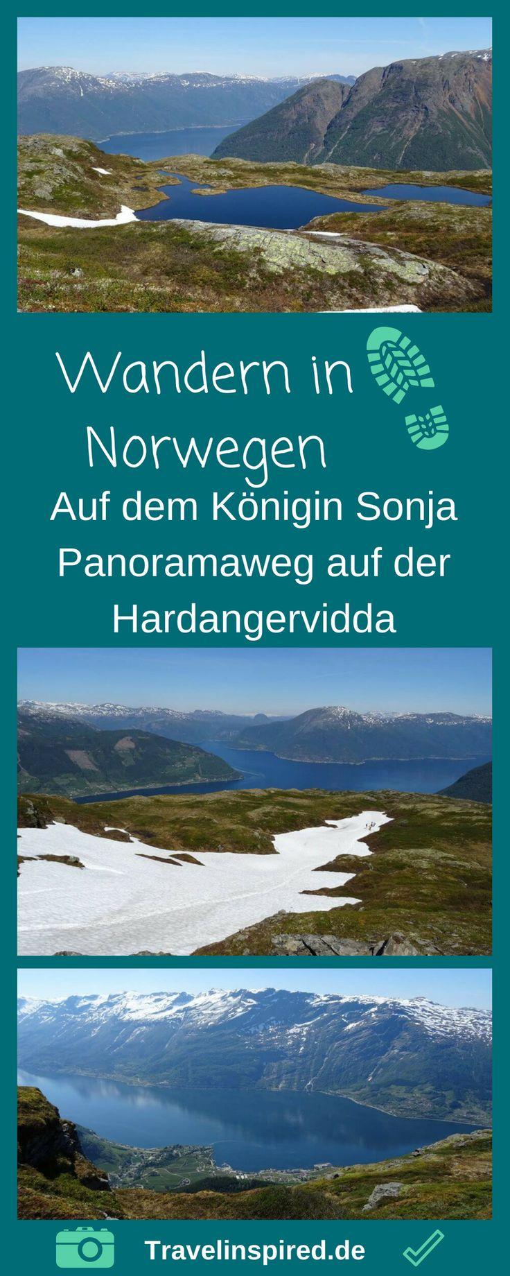 Norwegen Wandern durch malerische Landschaft