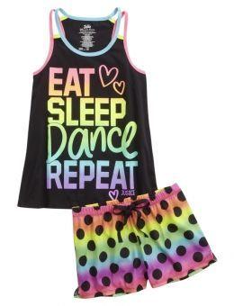 cool DANCE PAJAMA SET | GIRLS PAJAMAS SLEEP & UNDIES | SHOP JUSTICE