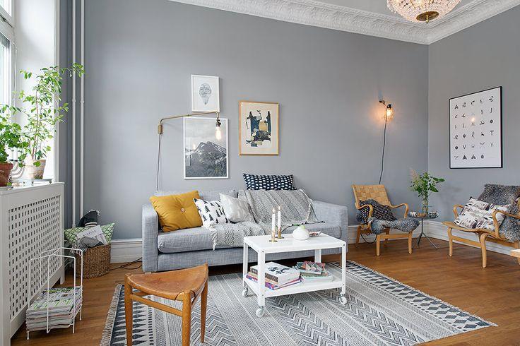 Ek, grått och vitt - harmoni och kontrast