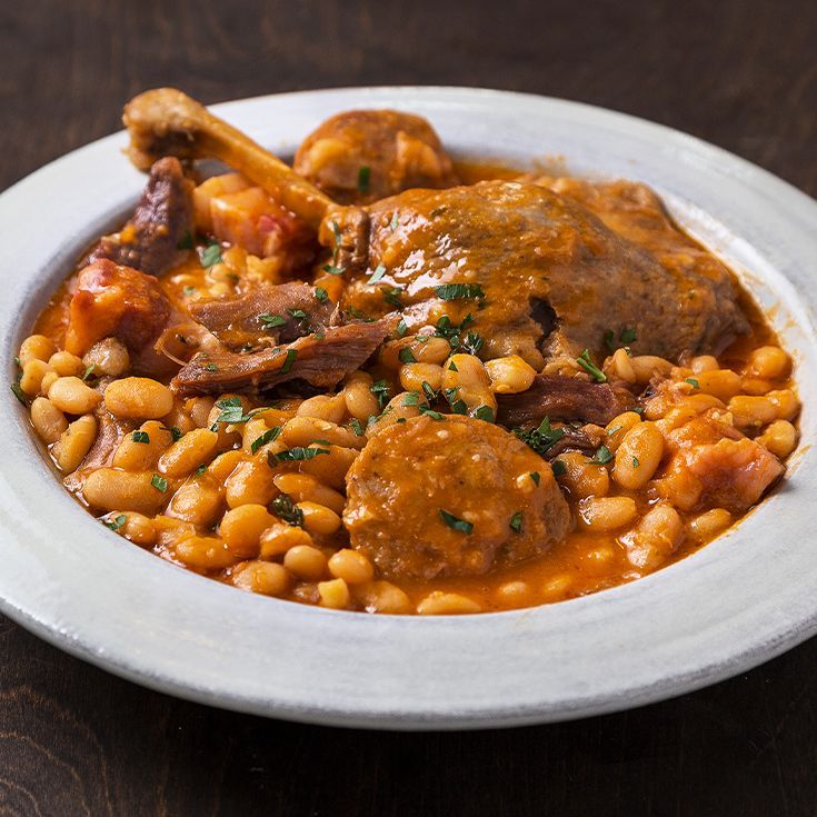 This cassoulet packs duck confit, white beans and garlic sausage all into one Instant Pot for a comforting French stew that's ready in less than an hour.