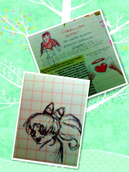 My old drawing: A girl and Chibiusa #drawing #sailormoon #chibiusa #majokko