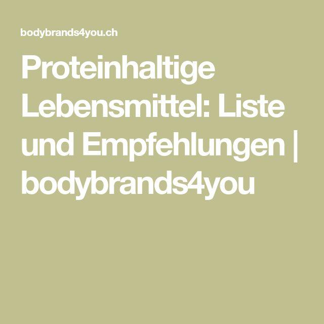 Proteinhaltige Lebensmittel: Liste und Empfehlungen | bodybrands4you