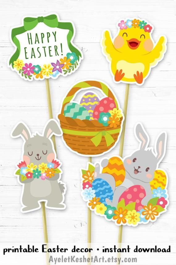 photo relating to Printable Easter Decorations called Printable Easter decorations centerpieces or banner
