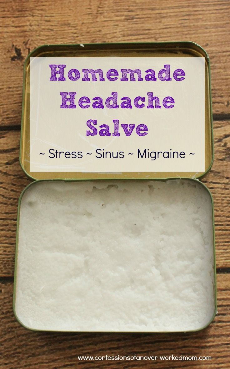 Homemade Headache Salve - Peppermint, Lavender and other essential oils work great