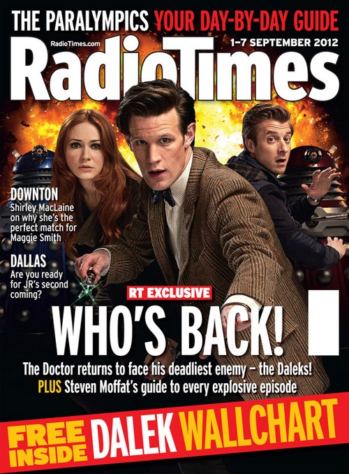 Freaking finally!: Covers 20120901, Books Jackets, Time Covers, Dalek Covers, Doctors Who, Radios Time,  Dust Covers, Revi Time, 20120901 Doctors