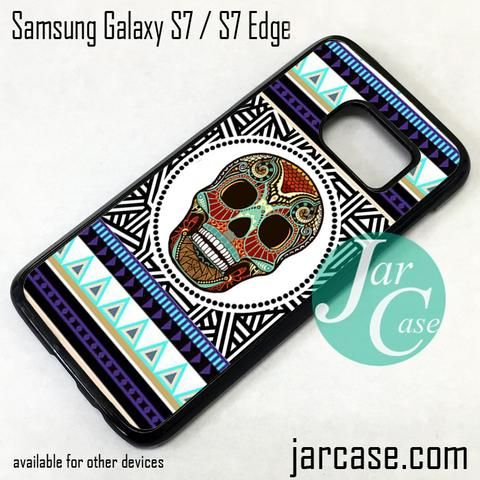 Aztec Cool Skull Phone Case for Samsung Galaxy S7 & S7 Edge