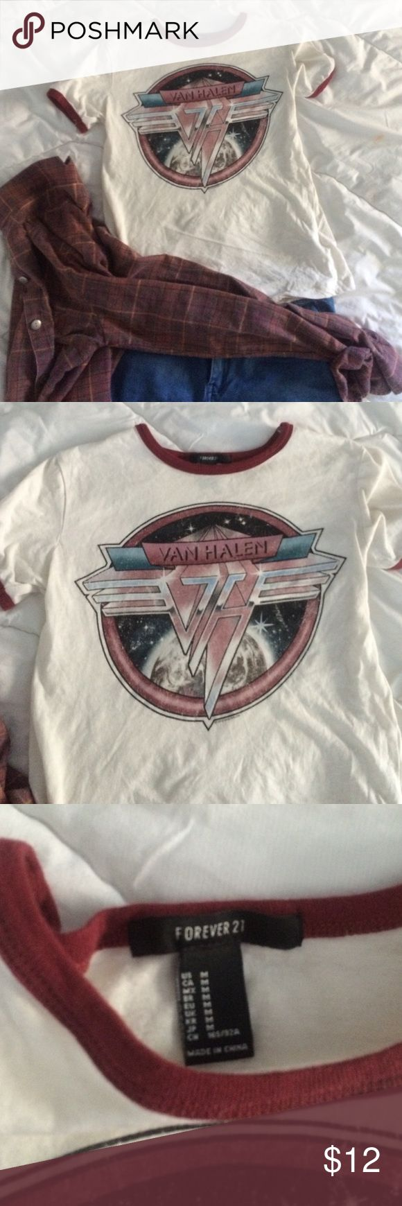 Black keys t shirt uk - Van Halen Band T Shirt Van Halen Band Shirt Wore Once Maroon Burgundy
