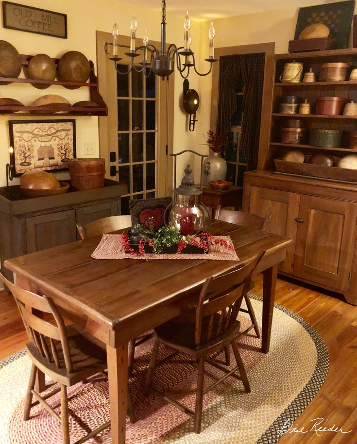 Colonial Kitchen And Great Room Addition: 395 Best Primitive/Colonial Dining Rooms Images On