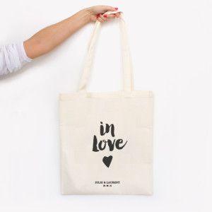 Tote bag in love - creation MonkeyChoo