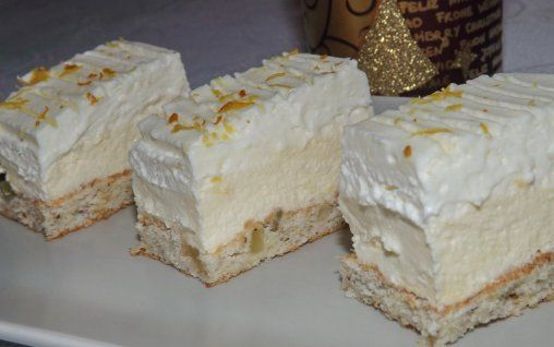 Retete Culinare - Prajitura cu crema de lamaie si crema de mascarpone