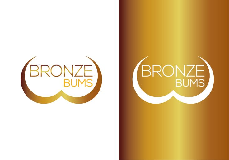 Create an interesting mobile tanning logo with an illustration of a bikini bum by tikachandra