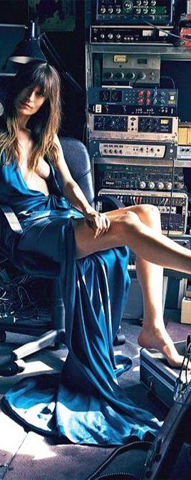 Caroline De Magret in her recording studio | Interview Magazine sept 2015 | cynthia reccord